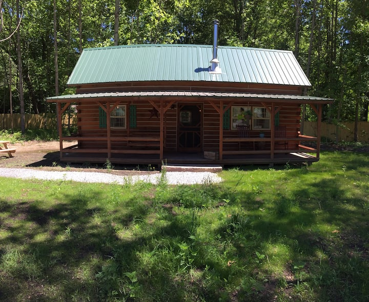The Acorn log cabin near Warren Dunes