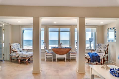 Oceanfront villa with terrific views and just steps to DeBordieu Beach Club Sea Breeze