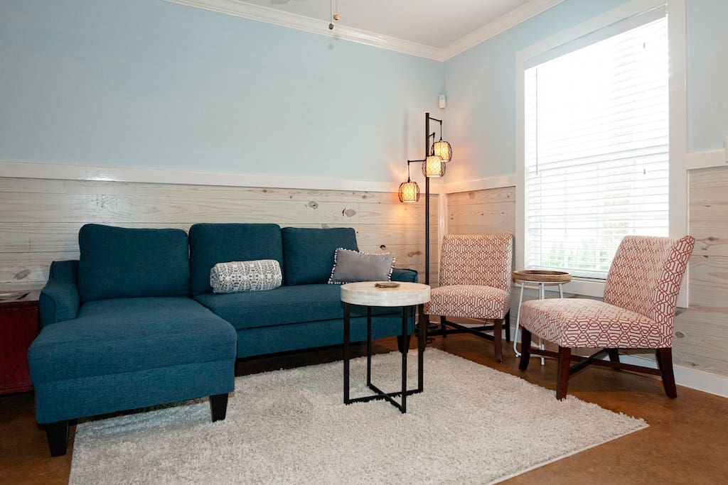 Newly remodeled condo featuring spacious interiors and an airy coastal palette.