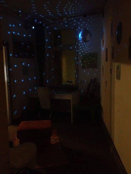 Disco lights if you wish.