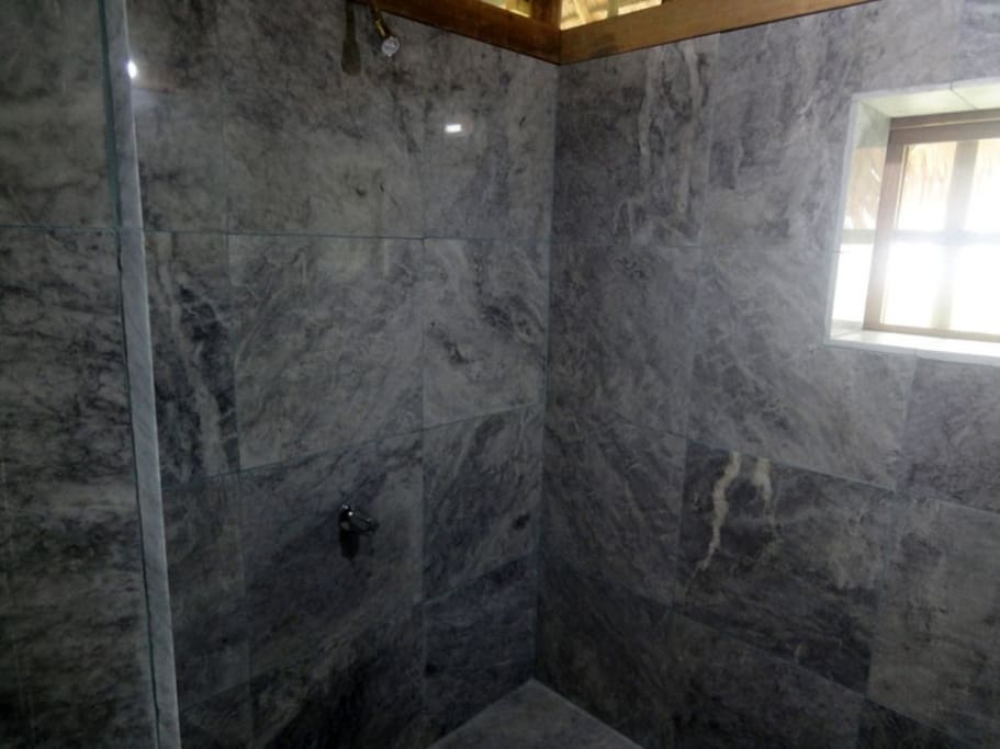 The bathroom is made of one of the most common material in Romblon: marble