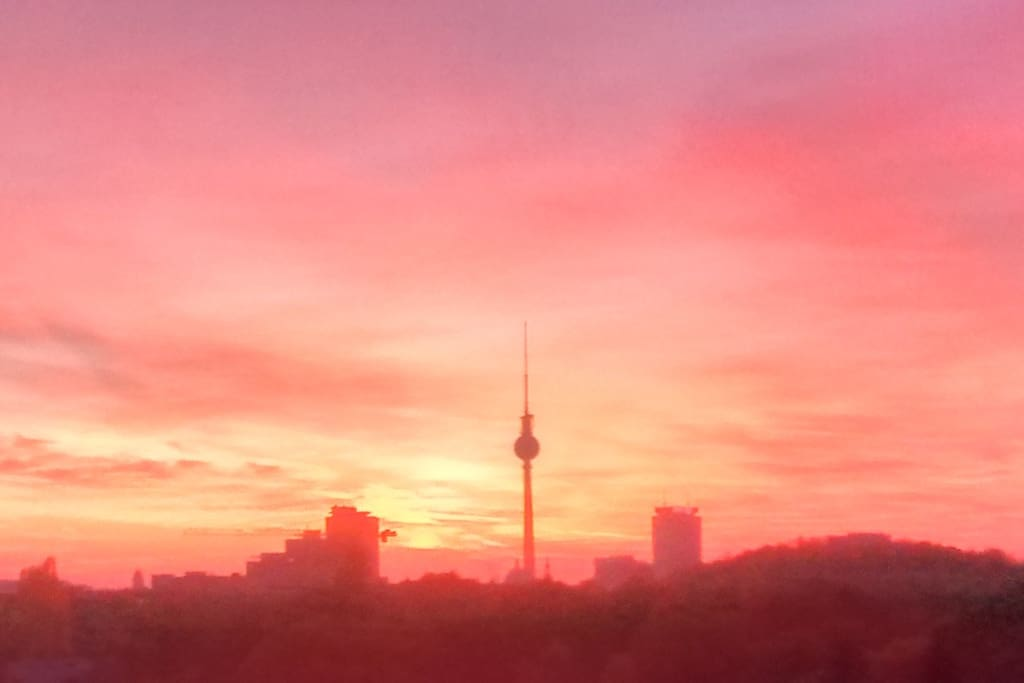 The last glimpse of Berlin, before you fall asleep.