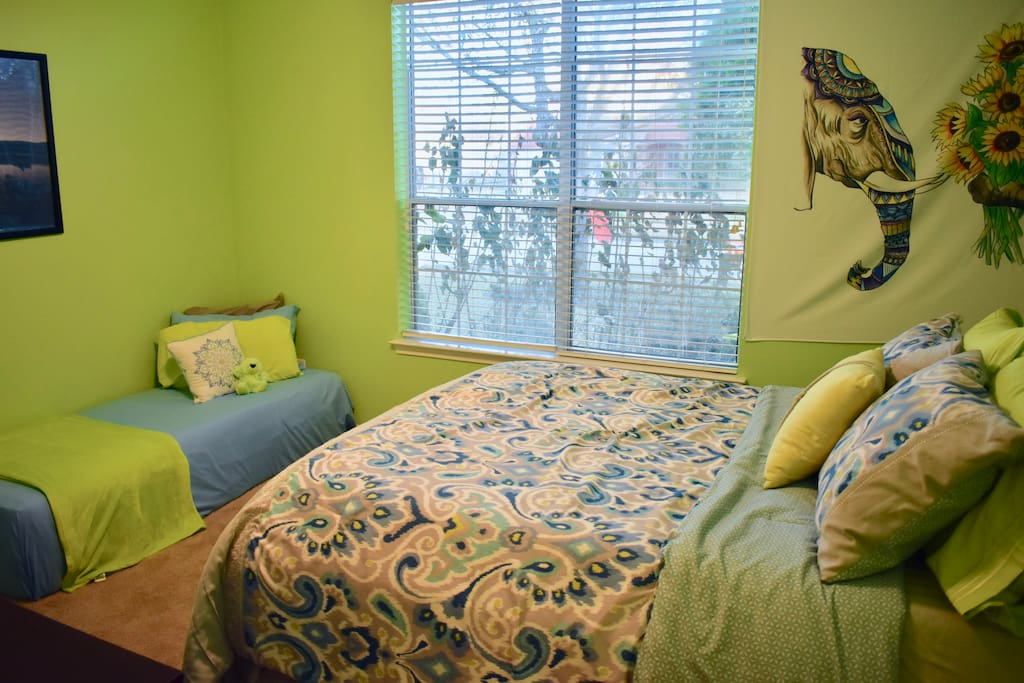 This is a wider view of your bedroom!