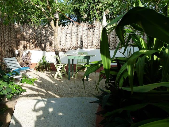 El Cactus,bungalow en playa Zipolite