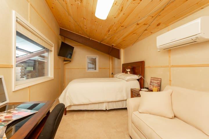 Bedroom #4: new therapeutic mattress plus a new Full Sofa sleeper, TV, AC, Heat
