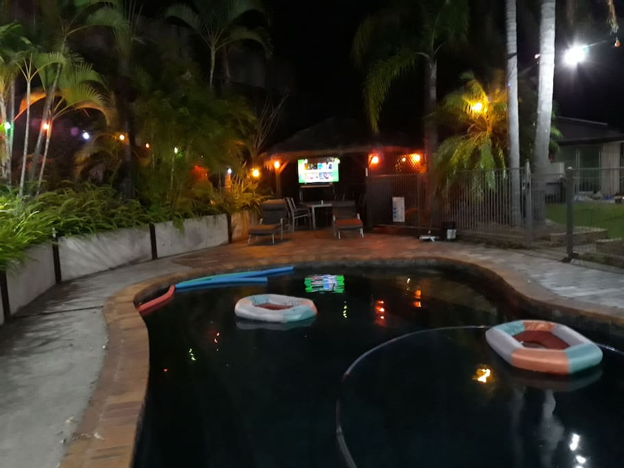Relax & watch TV or have a dip in the pool in our spacious outdoor area