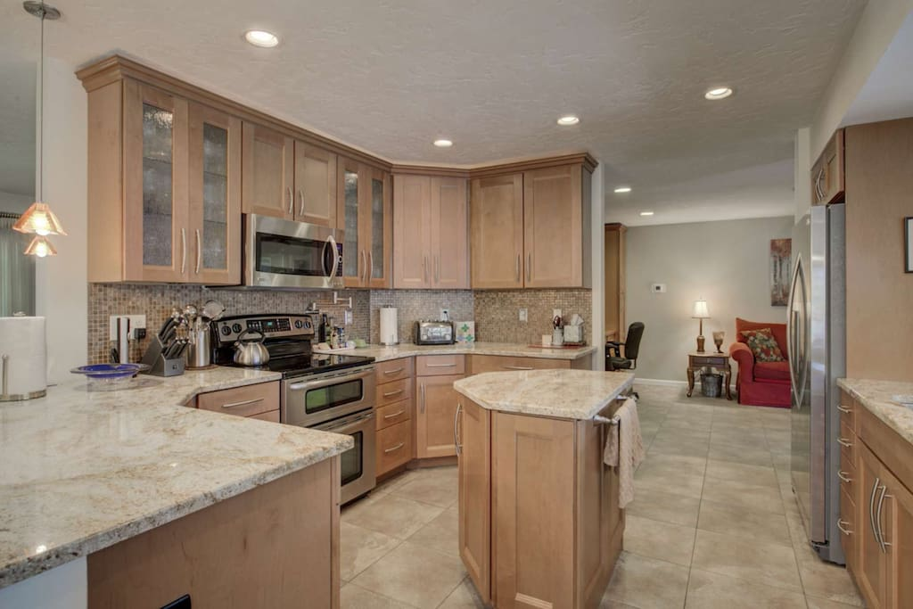 Open newly renovated with tiled floors, stainless appliances and new cabinets.