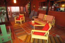 Relax in the lounge area with a cold drink, we are fully licensed (residents only)