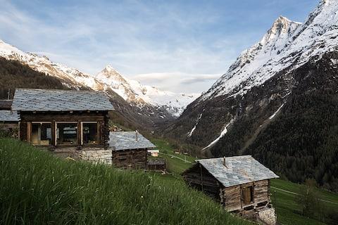 mayen à Jean, Val d'Hérens, Valais, Sion, Suisse
