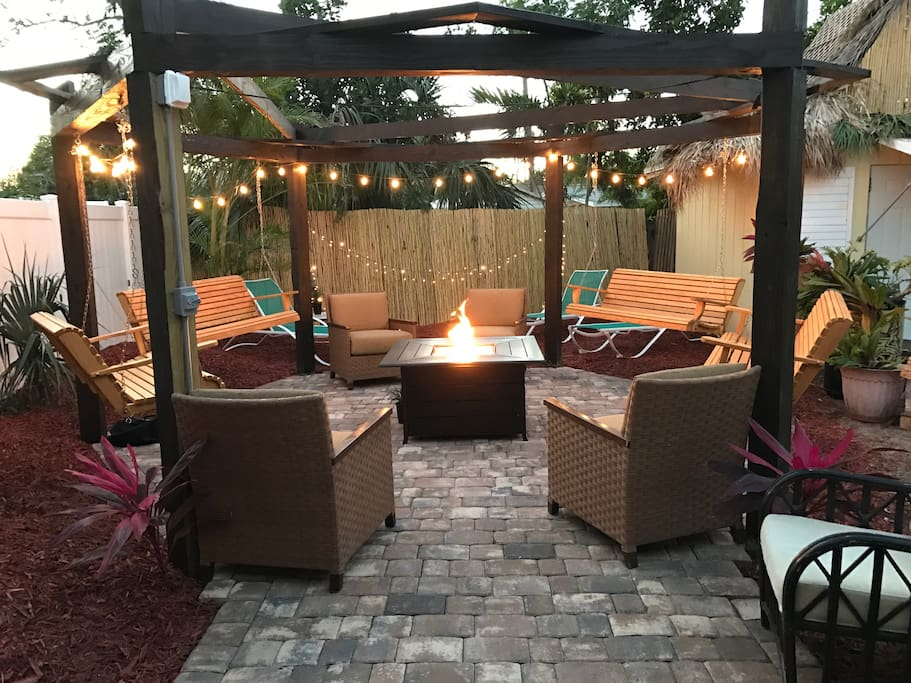 Fire pit and Pergola