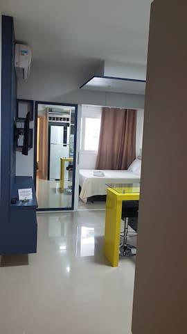Studio confortável no Life Space - Batel/Curitiba