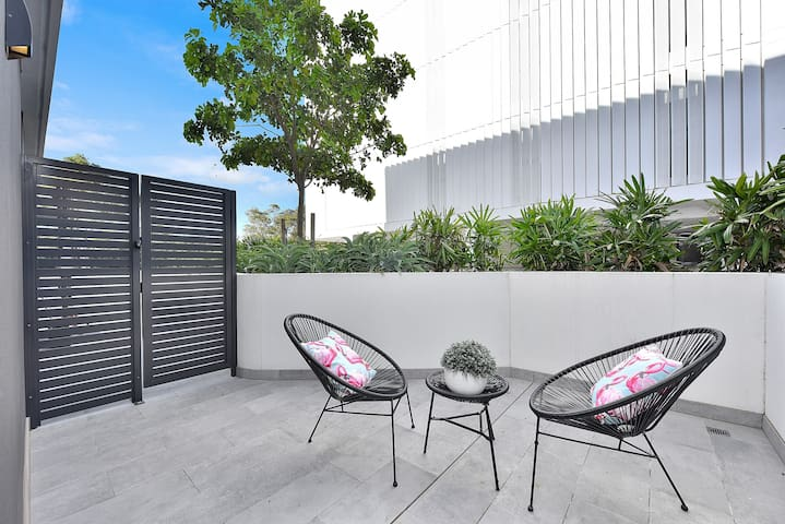 Your own private and spacious balcony with outdoor setting