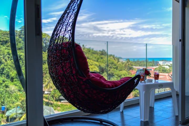 Seaview Impressive Apartment @Karon, beach - 800m