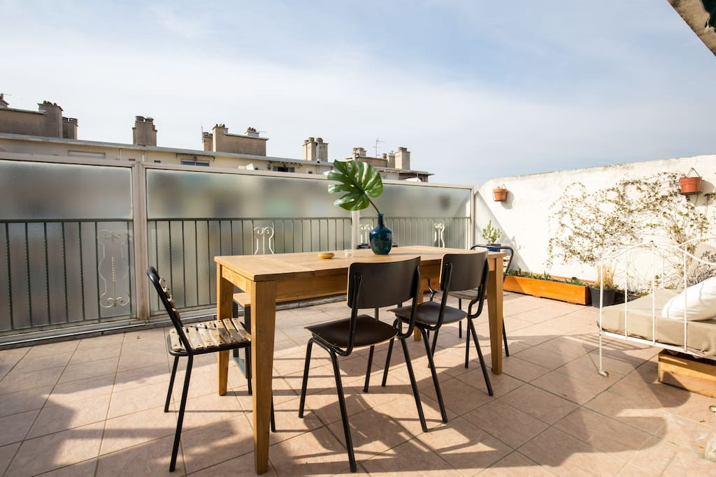 T2 avec terrasse quartier des artistes flats for rent in for T2 marseille terrasse