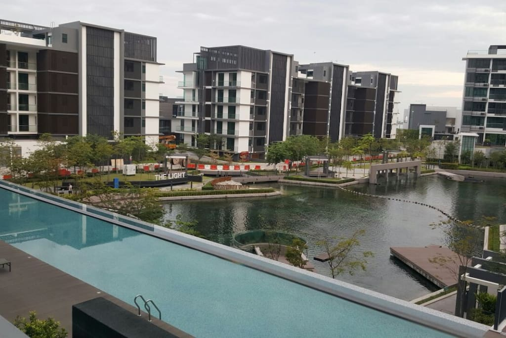 Pool (balcony view)