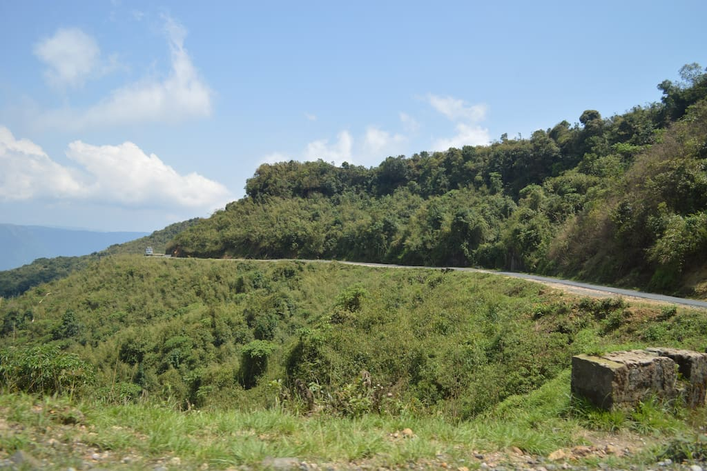 the road leading to my home in Mawsynram