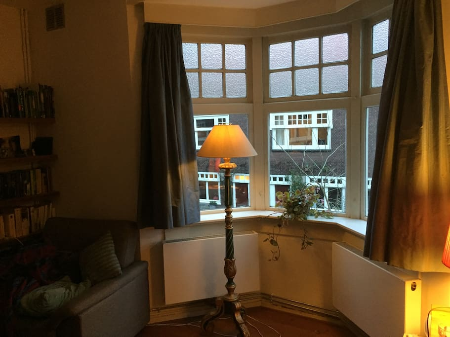 View from the sidewindow in the living room