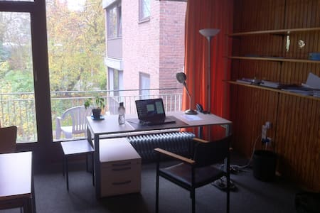 Single room accomodation with attached kitchen and bathroom. Spacious room with study table and a dining table, 3 chairs and bed. spacious balcony. Cheap laundry facility and TV room. 30 minutes from reeparbahn area.