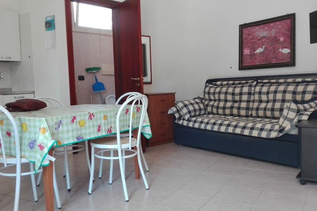 monolocale divano letto 2 posti