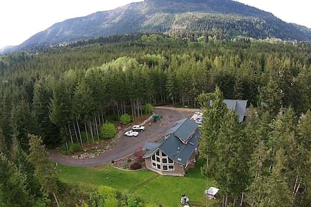 River House on the Elwha River & the Olympic Park