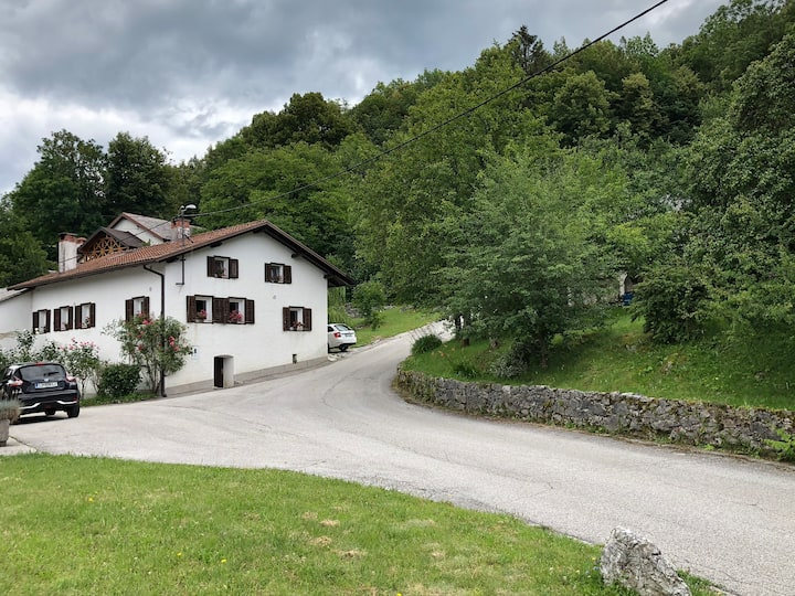 Lurin's cottage in the hills above Soča valley
