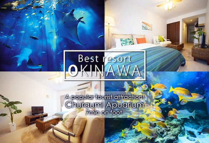 ☆New apartment☆Churaumi Aquarium!7mins/6ppl!!AS108