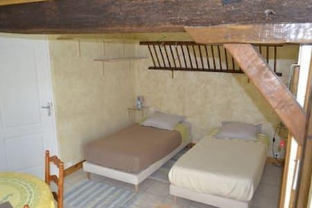 Chambre Axel dans ancienne Etable - Moulins-sur-Céphons - B&B