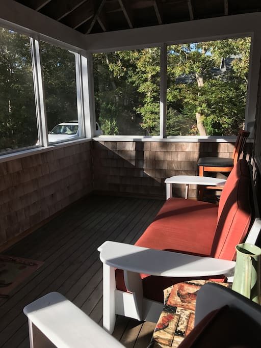 Watch the sunset from screened in porch