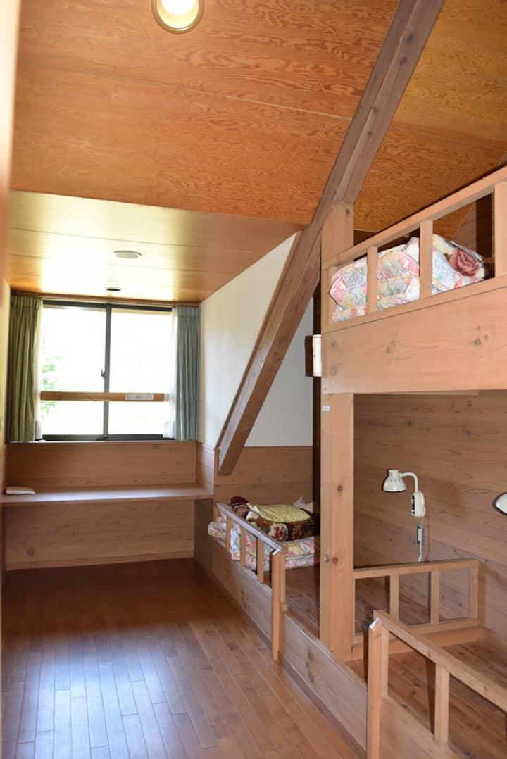 洋室,貸切部屋,日本一の星空,なみあい遊楽館,簡易宿泊施設,Achi,Namiai,長野県,阿智村,