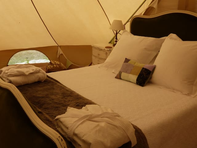 Romantic glamping experience with home comforts