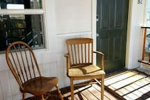 The front porch offers a nice place to sit and relax.