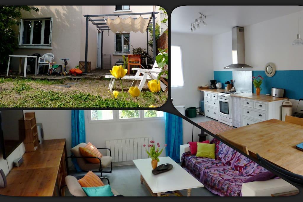 Chambre dans maison avec jardin maisons louer - Location maison jardin ile de france colombes ...