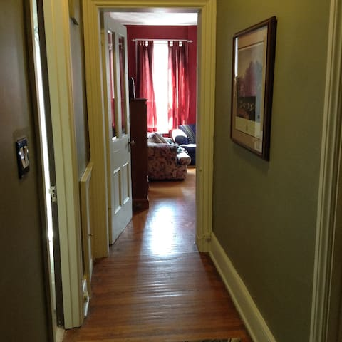 Hallway to bed/sitting area