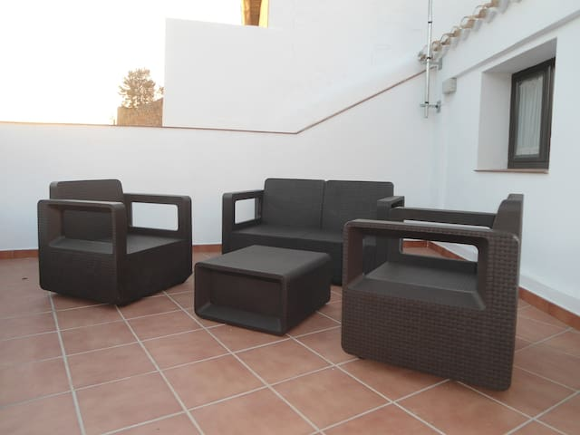 terras met prachtige zichten