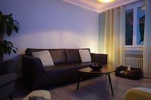 Salon : Canapé 3 places + Fauteuil + 4 chaises