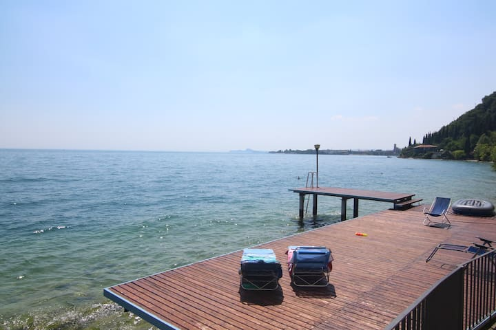 Rosso apartment directly on the lake - Toscolano Maderno - Apartamento