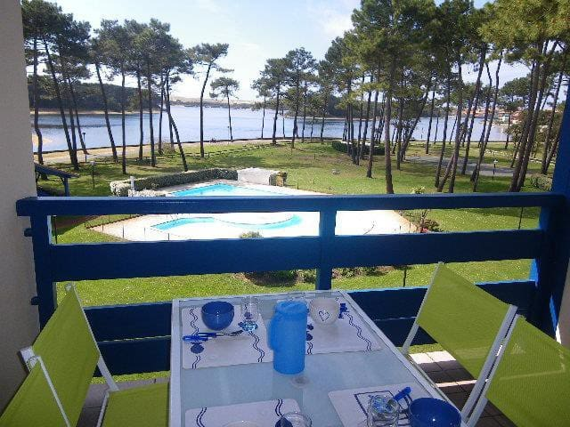 Beau T2 mezz résidence avec piscine Soustons plage