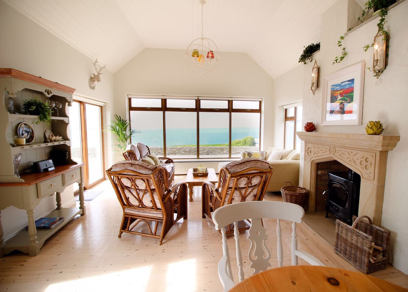 The living area with Views over the Aran Island