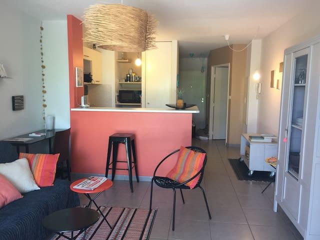 Joli appartement à 5 min du Lagon - La Saline-Les-Bains - Apartamento
