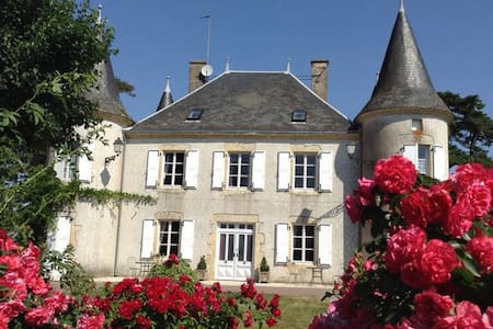 3 B&B Double / Twin Bedrooms in a Château - Le Chillou