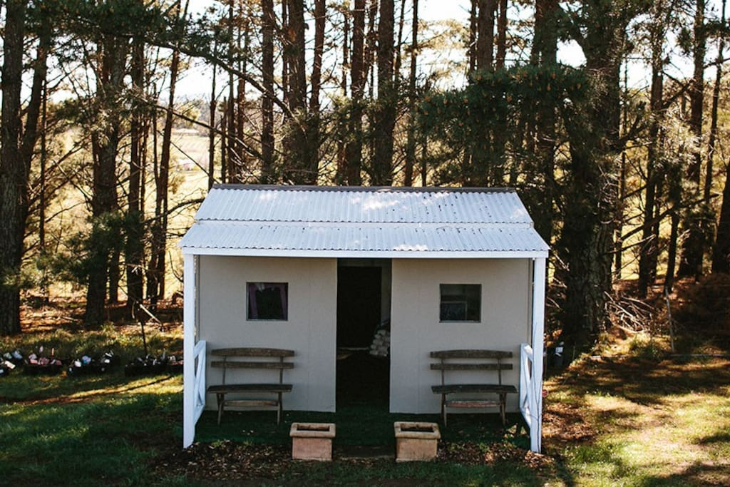 Kids are welcome with a cubby house and plenty of games and activities.