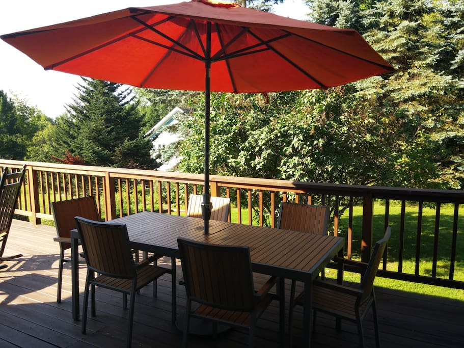 Deck with furniture included