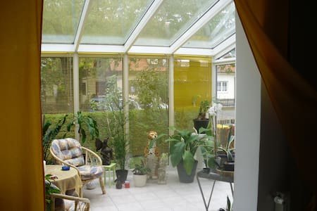 Wohnung kompl. möbiliert 70 m² EG, Wintergarten,Pp - Augsburg