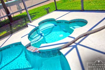 5 Bedroom Mickey Pool and Spa Home - Haines City - Maison