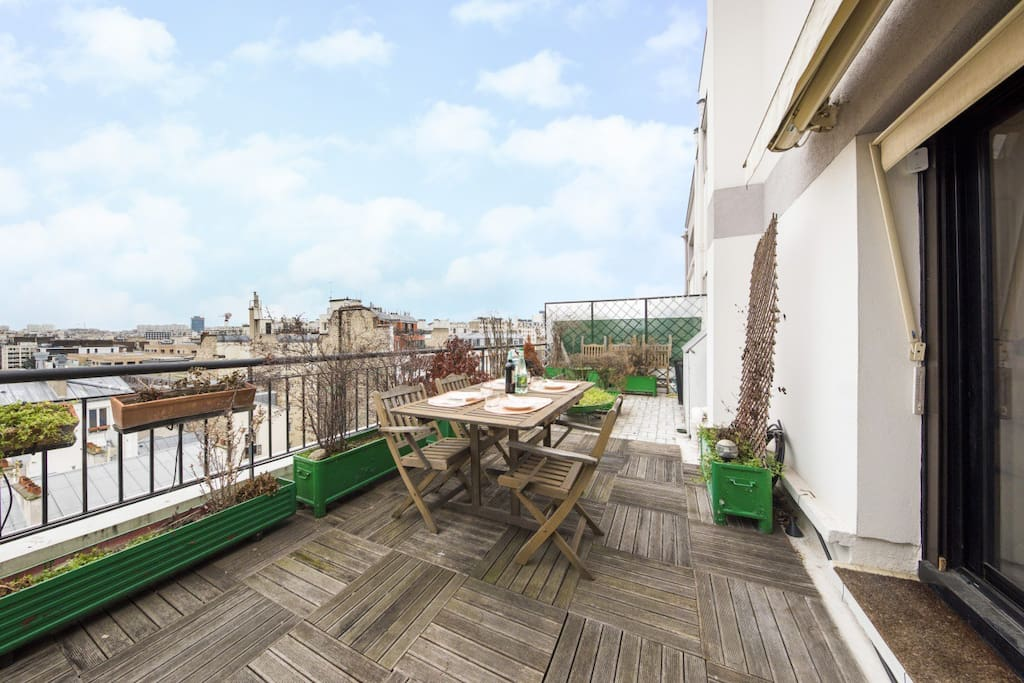 Grand appartement avec terrasse exceptionnelle for Location appartement avec terrasse paris