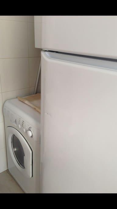 Lavarropas con secarropas  inc.  Amplia heladera.