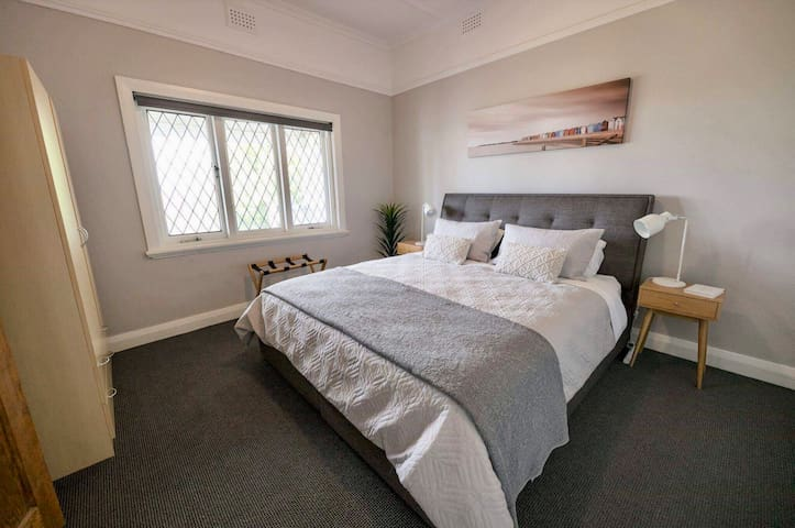 King Master with plenty of space & storage and views over the treetops.