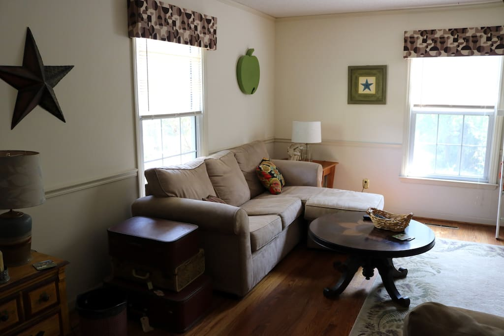 Living Room. Sleeper Sofa Pictured