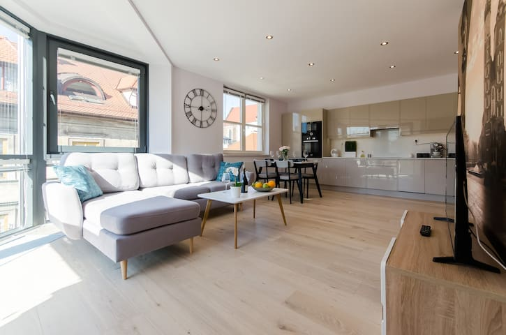 Elegant apartment with panoramic view.