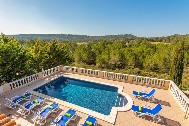 🌳Villa Pili - private pool, views, free AC & Wifi